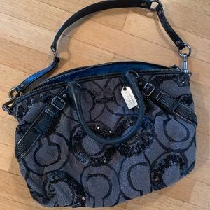 Coach sequined purse